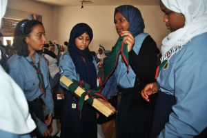 Benghazi Girl Scouts learning first aid methods